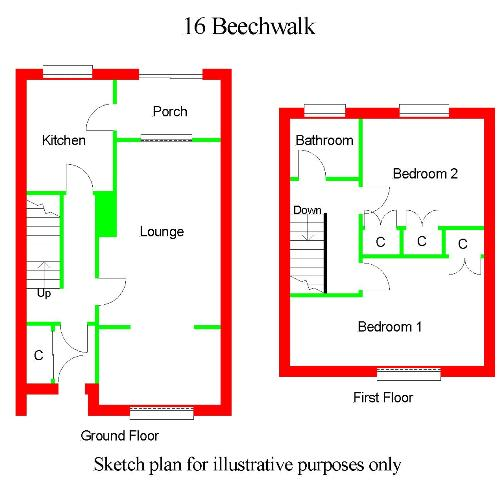 Floor Plan for 16 Beech Walk