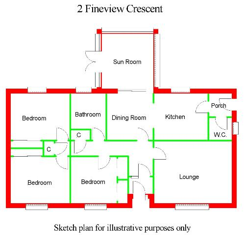 Floor Plan for 'Whinbank', 2 Fineview Crescent