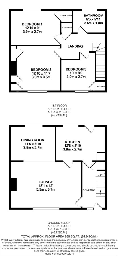 Floor Plan for 23 High Street