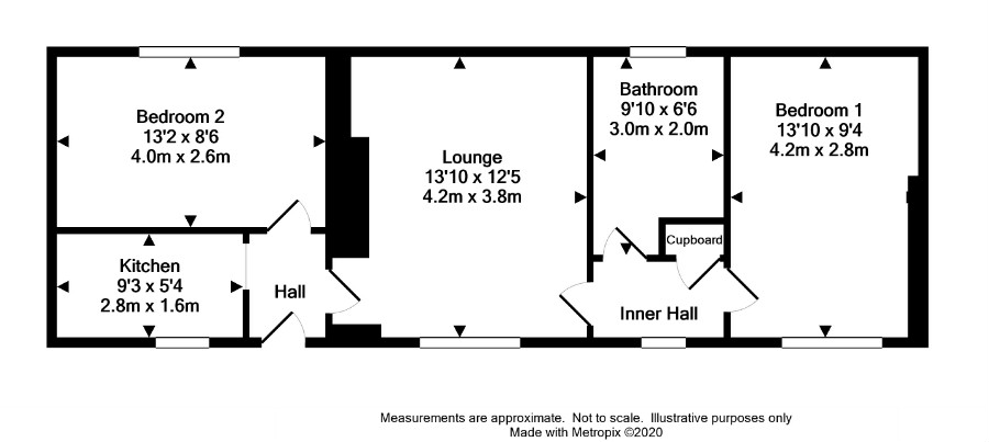 Floor Plan for 2 High Drummore Cottage
