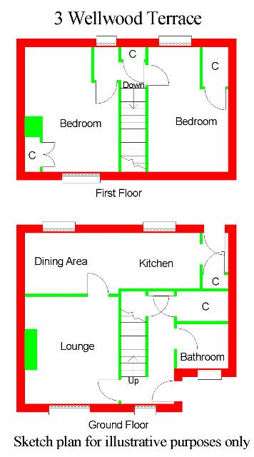 Floor Plan for 3 Wellwood Terrace
