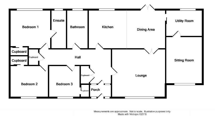 Floor Plan for 44 Clenoch Parks Road