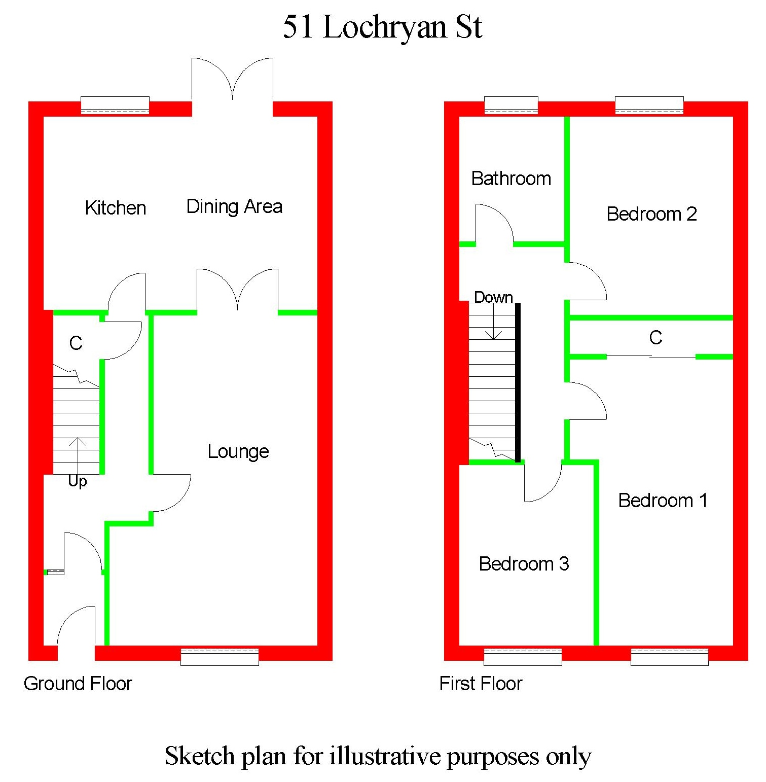 Floor Plan for 51 Lochryan Street