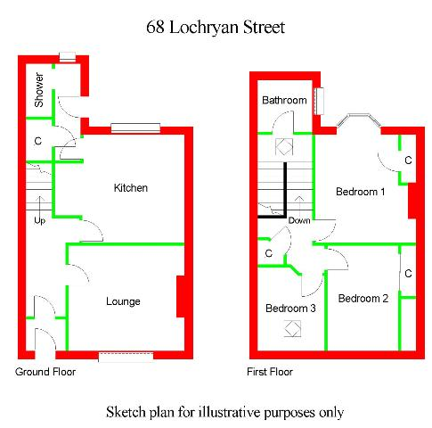 Floor Plan for 68 Lochryan Street