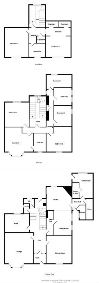 Floor Plan for 'Greystone House'  9 London Road