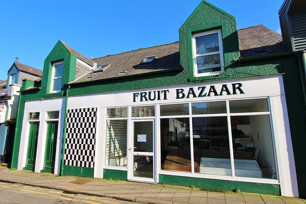 Photograph of 'Fruit Bazaar' including 2 bedroom flat, 7 & 7A St Andrew Street, Stranraer