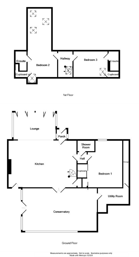 Floor Plan for 'Kirkmaiden Cottage'