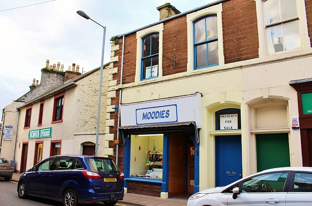 Photograph of Moodies, 56/58 Hanover Street, Stranraer